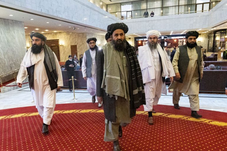 The Taliban has warned of 'consequences' if Washington fails to meet the May 1 troop withdrawal deadline [File: Alexander Zemlianichenko/Pool via Reuters]