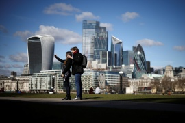 The City of London will remain the dominant financial centre in Europe for the foreseeable future, but its influence will be chipped away, a study by the New Financial think-tank finds [File: Henry Nicholls/Reuters]