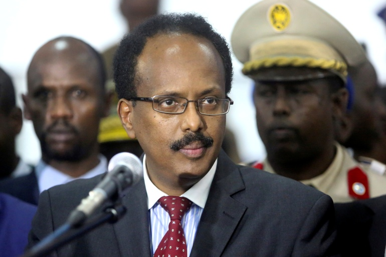 The cross-border row erupted hours after the leaders of Somalia's five semi-autonomous states urged Prime Minister Mohamed Hussein Roble and Farmajo to resolve their differences through mediation [File: Feisal Omar/Reuters]