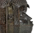 A view of the Benin bronze depicting the Oba of Benin is seen at The Sir Duncan Rice Library, the University of Aberdeen, Scotland [University of Aberdeen/Handout via Reuters]