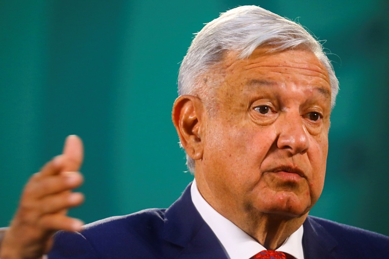 Mexico's President Andres Manuel Lopez Obrador appears to have switched course from last week when he said he would be taking the vaccine as a precaution [File: Edgard Garrido/Reuters]