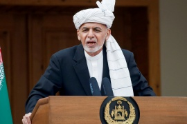 President Ashraf Ghani said extensive consultations have been held within the government and with international partners [File: Mohammad Ismail/Reuters]