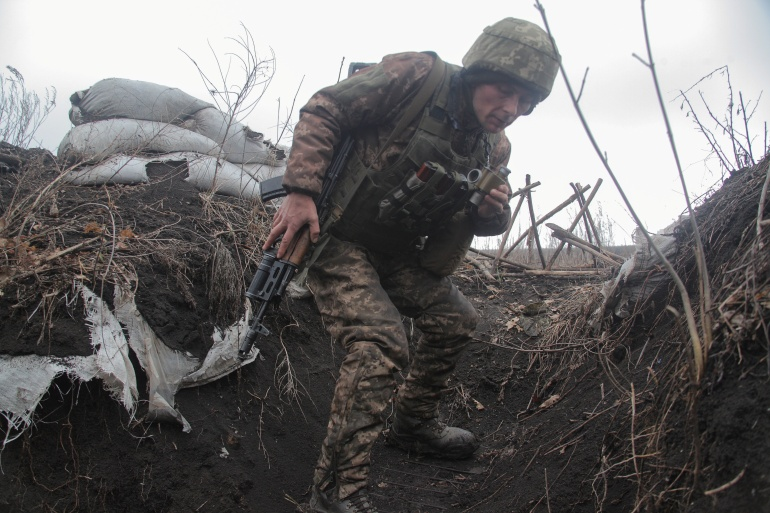 Ukrainian government troops have battled Russian-backed separatists in the country's eastern Donetsk and Lugansk regions, which form part of the Donbas, since the rebels seized a swath of territory there in April 2014 [File: Serhiy Takhmazov/Reuters]