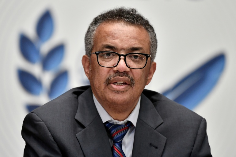 'It's a travesty that in some countries health workers and those at-risk groups remain completely unvaccinated,' World Health Organization Director-General Tedros Adhanom Ghebreyesus said [File: Fabrice Coffrini/Pool via REUTERS]