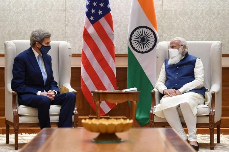 Kerry meets India's Prime Minister Narendra Modi in New Delhi [Press Information Bureau/Handout via Reuters]