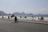 Rio de Janeiro was reversing restrictions in place for two weeks, reopening restaurants and bars, though the city's famed beaches remained closed [File: Ricardo Moraes/Reuters]