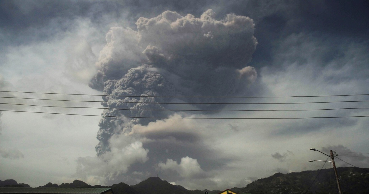St Vincent volcano erupts again, spewing more gas and ash