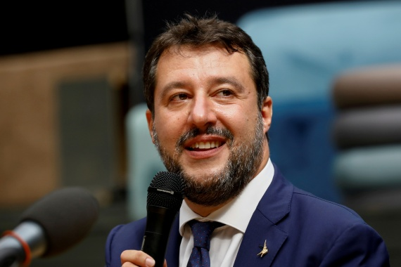 Salvini stopped several boats from docking in Italy [File: Antonio Parrinello/Reuters]