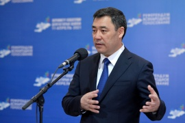 Kyrgyzstan's President Sadyr Japarov and his supporters hope a strengthened presidency will make the country more stable [File: Kyrgyz Presidential Press Service]