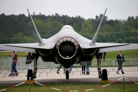 The deal includes the F-35 aircraft made by Lockheed Martin [File: Axel Schmidt/Reuters]
