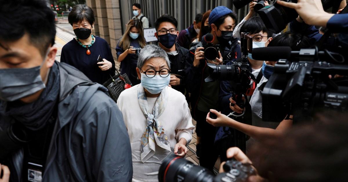 Veteran Hong Kong democracy politicians in court for sentencing