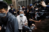 Pro-democracy activist and barrister Margaret Ng arrives at the West Kowloon Courts for sentencing [Tyrone Siu/Reuters]