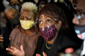 US Representative Maxine Waters called for more 'confrontational' protests if Derek Chauvin is not found guilty [Octavio Jones/Reuters]