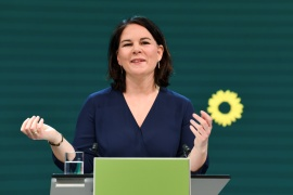 Annalena Baerbock, Green Party co-leader, is gearing up for Germany's elections in September [File: Annegret Hilse/Pool/Reuters]