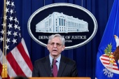 Attorney General Merrick Garland announced a federal investigation into the policing practices of the Minneapolis Police Department, April 21, 2021 [Andrew Harnik/Pool via Reuters]