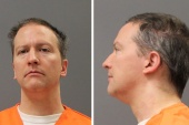 Former Minneapolis Police Officer Derek Chauvin is shown in a combination of police booking photos after a jury found him guilty on all counts in his trial for second-degree murder, third-degree murder and second-degree manslaughter in the death of George Floyd in Minneapolis, Minnesota, US [Minnesota Department of Corrections/Handout via Reuters]