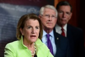 Republican Senators Shelley Moore Capito, Roger Wicker and John Barrasso offered a counter-proposal to President Joe Biden's $2.3 trillion infrastructure plan [Erin Scott/Reuters]