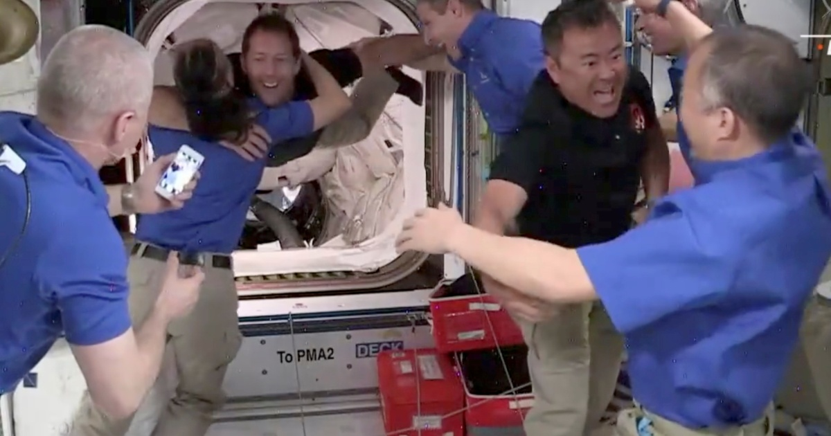 Crew reaches space station on board recycled SpaceX capsule | Space News