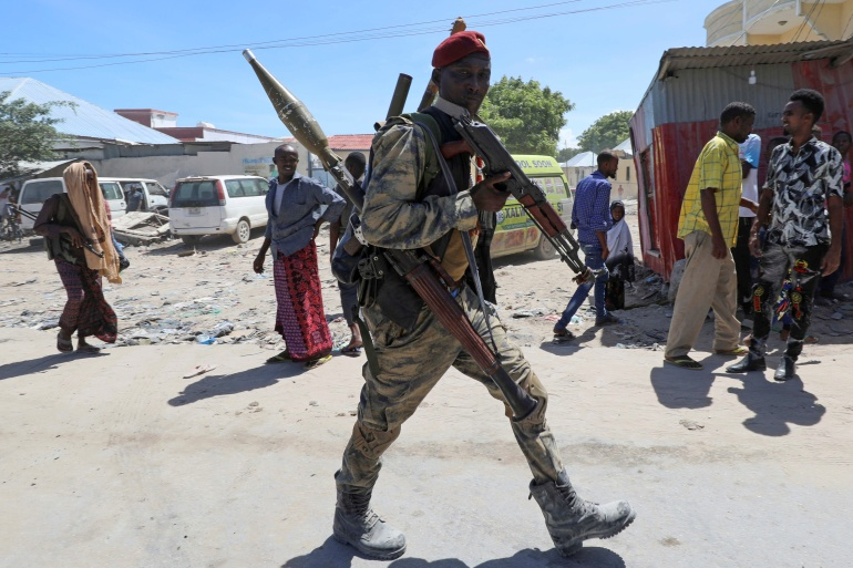 The Somali president signed a law in mid-April extending his mandate for two years, stoking opposition [Feisal Omar/Reuters]