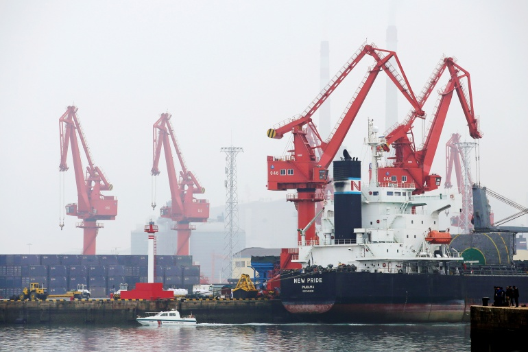 The spill could threaten operations at Qingdao port in China's Shandong province, the biggest crude-receiving terminal for the world's largest importer, and a hub for oil refiners that account for about a quarter of China's total processing capacity [File: Jason Lee/Reuters]