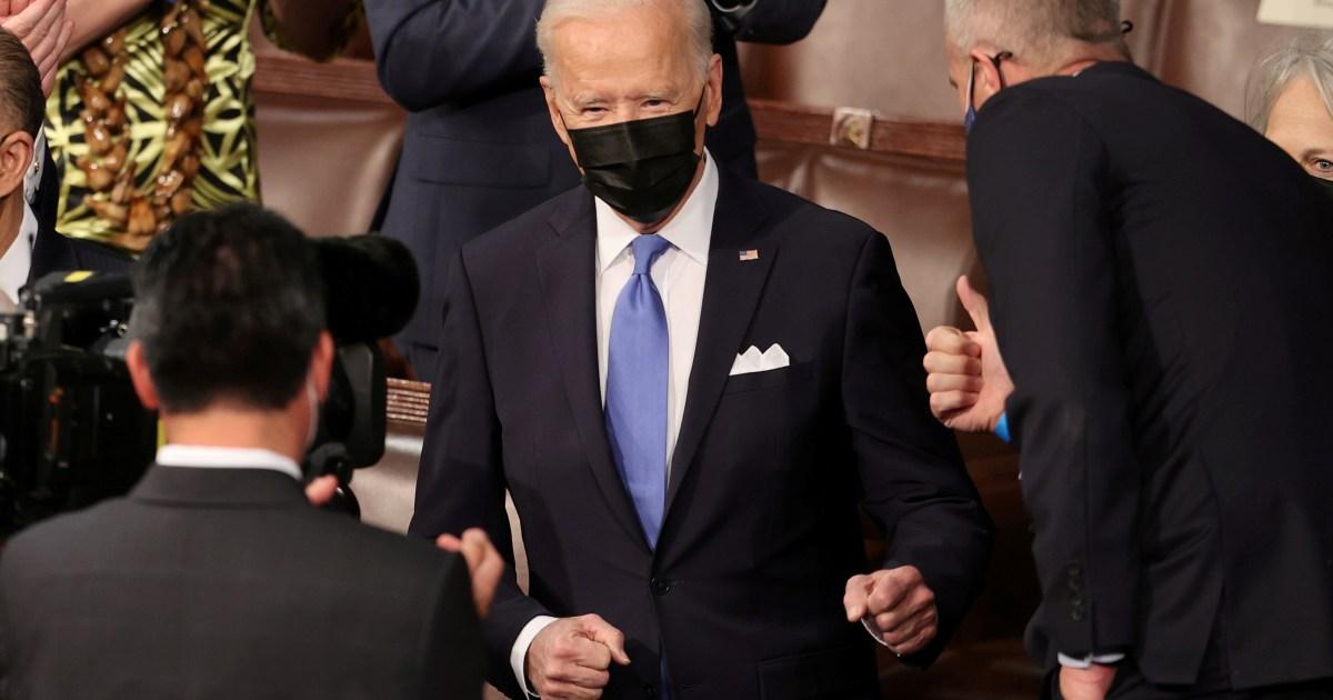 Pidato pertama Presiden Joe Biden kepada Kongres: Transkrip Elephantine thumbnail