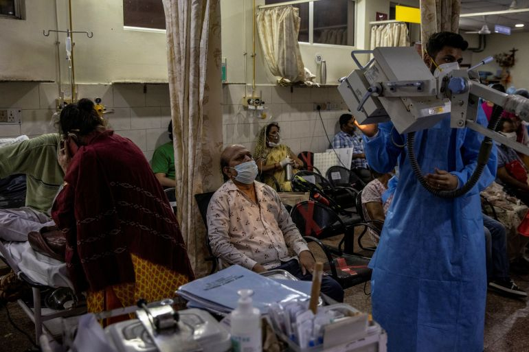 The condition of a hospital in India.