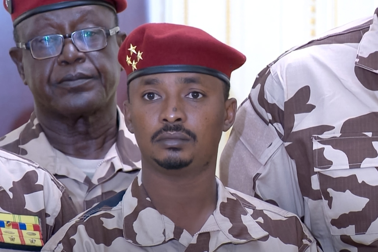 Mahamat Deby previously commanded the elite guard under the presidency and was also a deputy commander of the Chadian forces in Mali [File: Chadian Presidency via Anadolu Agency]