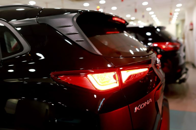 South Korea's Hyundai Motor Co launched its Kona electric sports utility vehicle in India in 2019 as it hopes to capture a chunk of the country's potentially large market for electric vehicles [File: Anindito Mukherjee/Bloomberg]
