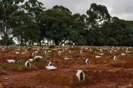 Brazil's Vila Formosa cemetery has seen a surge in burials as April became the country's deadliest month since the coronavirus pandemic began [Avener Prado/Al Jazeera]