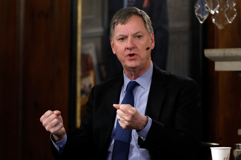 'All told, even though the economy is recovering, we still have a long way to go before economic activity returns to its pre-pandemic vibrancy,' Charles Evans, president of the Federal Reserve Bank of Chicago, said Wednesday in prepared remarks [File: Richard Drew/AP Photo]