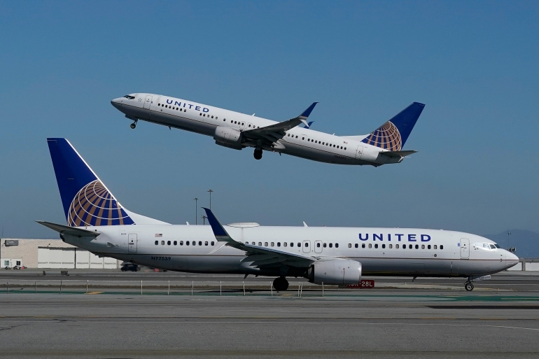 United Airlines said currently about 7 percent of its pilots are women and 13 percent are people of colour [File: Jeff Chiu/AP]