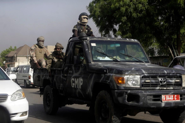 Police were deployed in N'Djamena to break up the demonstrations. [Sunday Alamba/AP Photo]