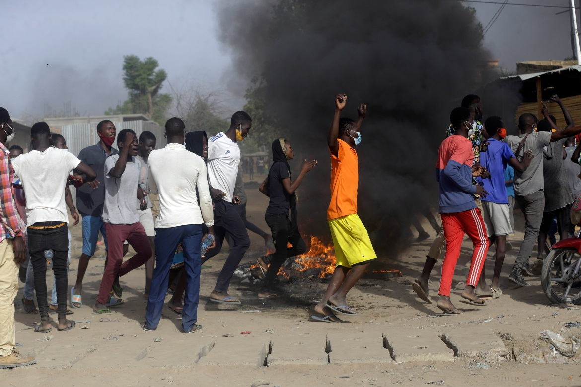 The opposition coalition called for the demonstrations despite a ban on protests. [Sunday Alamba/AP Photo]