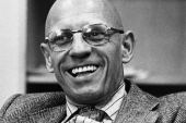 Michel Foucault, French philosopher and historian, is seen smiling in this picture of November 5, 1979 [File: Getty Images]