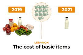 Infographic: How much do basic necessities cost in Lebanon?