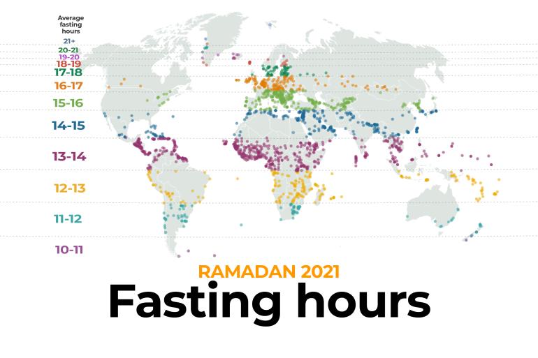 Ethiopian Fasting Calendar 2022.Ramadan 2021 Fasting Hours Around The World Infographic News Al Jazeera