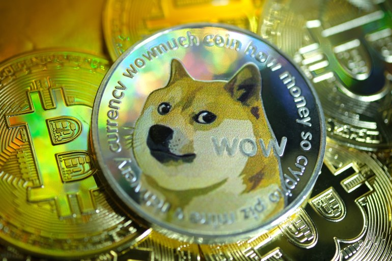 In the past week, Dogecoin has jumped more than 400 percent and now has a market value of more than $51bn, according to data from crypto data provider CoinGecko.com [File: Yuriko Nakao/Getty Images]