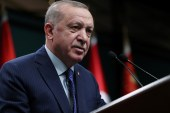 Turkish President Recep Tayyip Erdogan has pitched recent energy finds as a solution to some of Turkey's long-term economic vulnerabilities, including its energy-import bill that needs to be paid in foreign currency [File: Murat Cetinmuhurdar/PPO/Handout via Reuters]