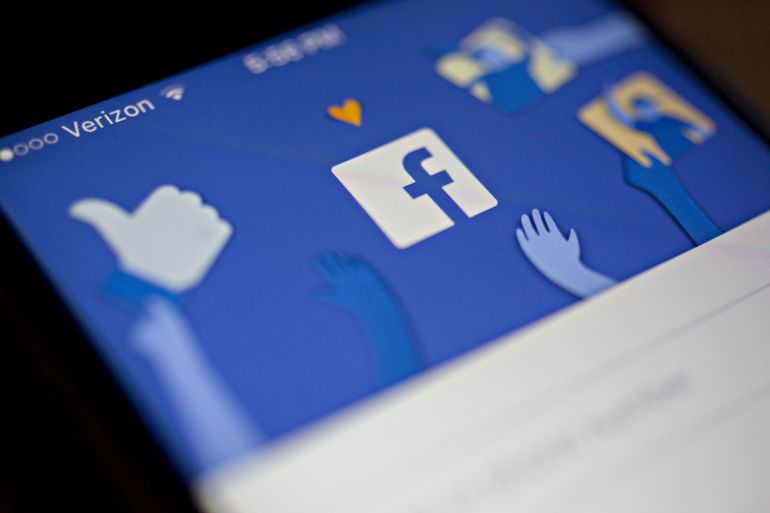 Facebook, which also owns Instagram and WhatsApp, has seen a surge in use of its platforms for at-home entertainment and keeping up with loved ones while people have been stuck in lockdown [File: Andrew Harrer/Bloomberg]