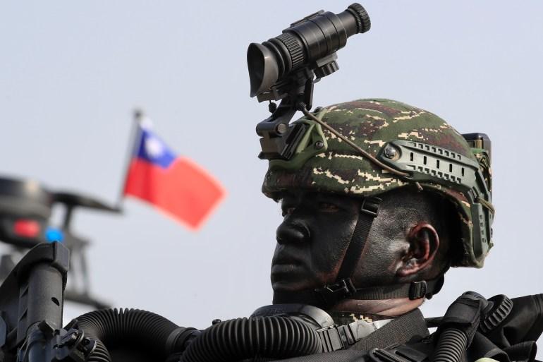 Pasukan khusus Taiwan selama latihan angkatan laut di Kaohsiung pada 27 Januari 2021 File Ritchie B Tongo/EPA