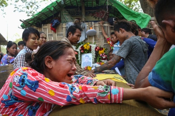 At least 46 children and young people were among the 550 deaths in the protest crackdown in Myanmar [EPA]