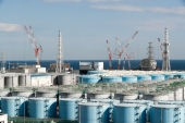The Japanese government decided to release treated water containing tritium from the crippled Fukushima Daiichi Nuclear Power Plant into the ocean [File: Kimimasa Mayama/EPA]