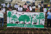 Goa residents protest against the infrastructure projects approved in the Mollem forest [Gina Pereira/Al Jazeera]
