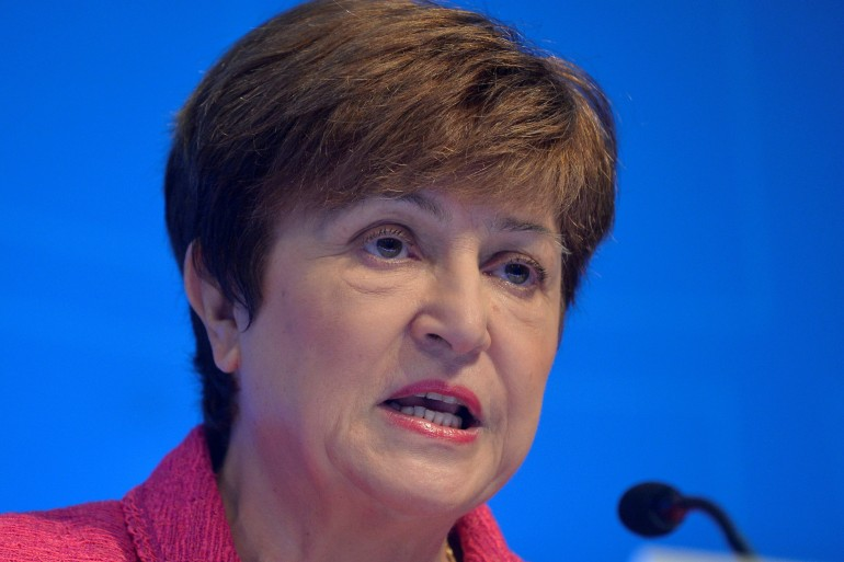 International Monetary Fund (IMF) Managing Director Kristalina Georgieva said on Wednesday that while the global economy is on better footing than last year, looming uncertainties and inequalities pose a real risk to recoveries [File: Mike Theiler/Reuters]