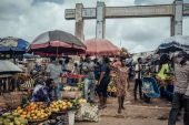 Food inflation in Nigeria rose to 22.95 percent in March, caused by wide-ranging price increases across items such as cereals, yam, meat, fish and fruits [File: KC Nwakalor/Bloomberg]
