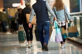The unchanged reading in United States retail sales last month followed a 10.7 percent surge in March, the second-largest increase on record [File: Mark Makela/Reuters]
