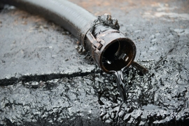 Stock image of crude oil from an oil well [SHUTTERSTOCK/ANAN KAEWKHAMMUL]
