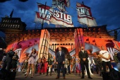 WWE chairman Vince McMahon opens WrestleMania 37 alongside WWE superstars in Tampa, Florida on Saturday [Handout/WWE]