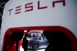 Late on Tuesday, Tesla issued a statement apologising for not addressing the customer's complaint in a timely manner, and said it would conduct a self-inspection of its service and operations in China [File: Aly Song/Reuters]