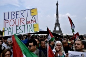 Activists had called the protest in the Barbes district of northern Paris to demonstrate against Israel's use of force in the Gaza Strip [File: Philippe Lopez/AFP]